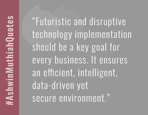 Futuristic and disruptive technology implementation should be a key goal for  every business. It ensures  an efficient, intelligent, data-driven yet  secure environment